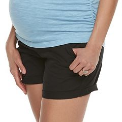 Maternity a:glow Full Belly Panel Chino Shorts