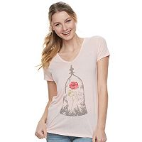 Disney's Beauty and the Beast Juniors' Bell Jar Tee