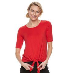 Women's Dana Buchman Tie-Front Top