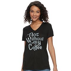 Juniors' Fifth Sun 'Not Without My Coffee' Tee