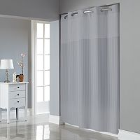 Hookless Satin Stripe Shower Curtain & Liner