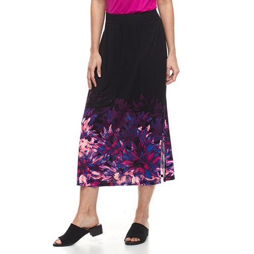 Women's Dana Buchman Side-Slit Midi Skirt