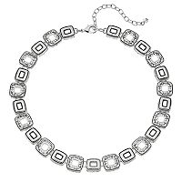 Napier Geometric Link Collar Necklace