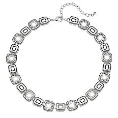Napier Geometric Link Collar Necklace