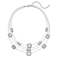 Napier Rectangle Link Multi Strand Necklace