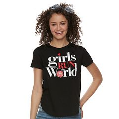 Juniors' 'Girls Run the World' Tee