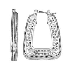 Napier Rectangle Hoop Earrings