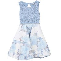 Girls 7-16 Speechless Flower & Lace Skater Dress