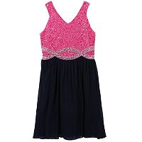 Girls 7-16 Speechless Rhinestone Infinity Waistline Dress