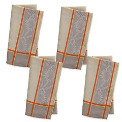 Celebrate Fall Together Sunflower Jacquard Napkin 4-pack