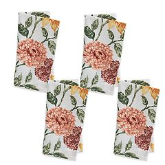 Celebrate Fall Together Sunflower Mum Print Napkin 4-pack