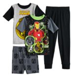 Boys 6-12 Marvel Comics Avengers 4-Piece Pajama Set