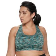 Plus Size Tek Gear®  Low-Impact Mesh Racerback Sports Bra