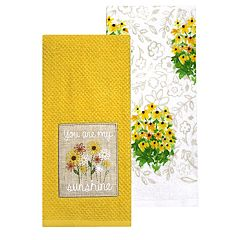 Celebrate Fall Together Sunshine Patch Kitchen Towel 2-pack