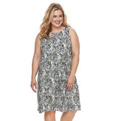 Plus Size Croft & Barrow® Pleat Sleeveless Dress
