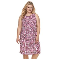 Plus Size Croft & Barrow® Pleat Sleeveless Dress