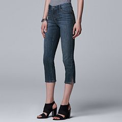 Women's Simply Vera Vera Wang Side Slit Capri Jeans