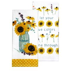 Celebrate Fall Together Flowers in a Jar Kitchen Towel 2-pack