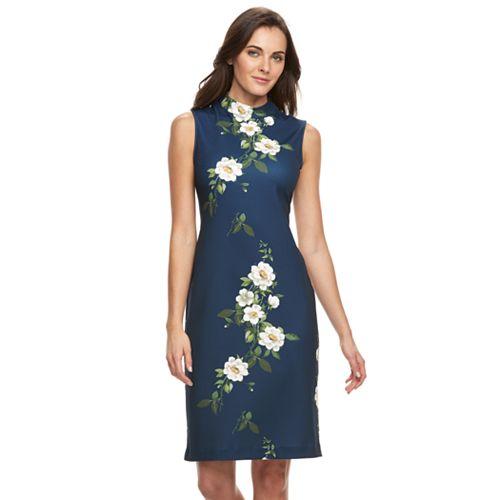 Women's Sharagano Floral Midi Dress