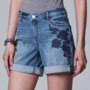 Women's Simply Vera Vera Wang Cuffed Jean Shorts