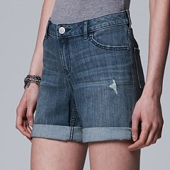 Women's Simply Vera Vera Wang Cuffed Jean Shorts