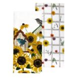 Celebrate Fall Together Bird Print Kitchen Towel 2-pack