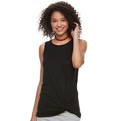 Juniors' Love, Fire Twist Hem Tank