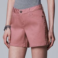Women's Simply Vera Vera Wang Vented Hem Jean Shorts