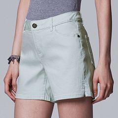 Women's Simply Vera Vera Wang Side Slit Jean Shorts