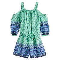 Girls 7-16 My Michelle Cold Shoulder Romper