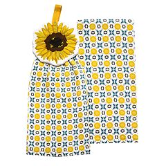 Celebrate Fall Together Sunflower Tie-Top Kitchen Towel 2-pack