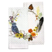 Celebrate Fall Together Bird Wreath Kitchen Towel 2-pack