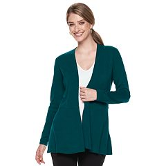 Petite Napa Valley Open-Front Swing Cardigan
