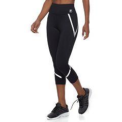 Women's FILA SPORT® Reflective High-Waisted Capri Leggings