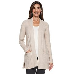 Petite Napa Valley Cozy Ribbed Cardigan Sweater