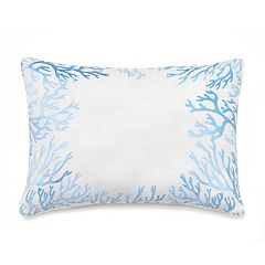 Always Home Sea Star Coral Oblong Throw Pillow