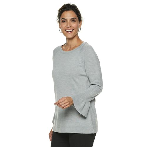 Petite Napa Valley Boatneck Bell-Sleeve Sweater
