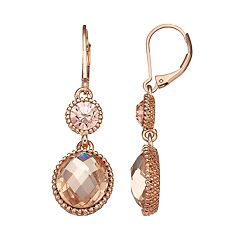 Napier Halo Disc Drop Earrings