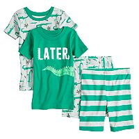 Boys 4-8 Carter's Aligator 4 pc Pajama Set