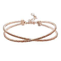 Napier Brown X Bracelet