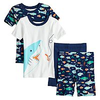 Boys 4-8 Carter's Shark 4 pc Pajama Set