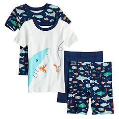 Boys 4-8 Carter's Shark 4-Piece Pajama Set
