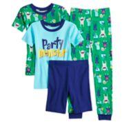 Boys 4-8 Carter's Party Monster 4-Piece Pajama Set