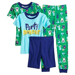 Boys 4-8 Carter's Party Monster 4-Piece Pajama Set