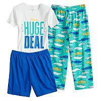 Boys 4-8 Carter's Whale 3-Piece Pajama Set