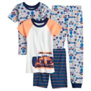 Boys 4-12 Carter's Race Car 4-Piece Pajama Set