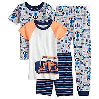 Boys 4-12 Carter's Race Car 4-Piece Pajama Set