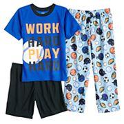 Boys 4-8 Carter's Sports 3 pc Pajama Set