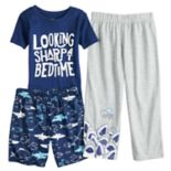 Boys 4-8 Carter's Shark 3-Piece Pajama Set