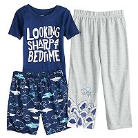 Boys 4-8 Carter's Shark 3 pc Pajama Set